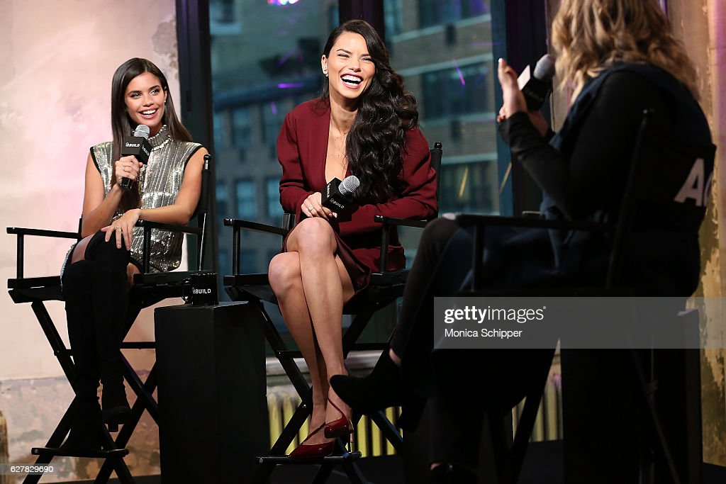 Models Sara Sampaio and Adriana Lima speak with Jamie Feldman at Build Presents Victoria's Secret Angels Sara Sampaio and Adriana Lima at AOL HQ on December 5, 2016 in New York City.