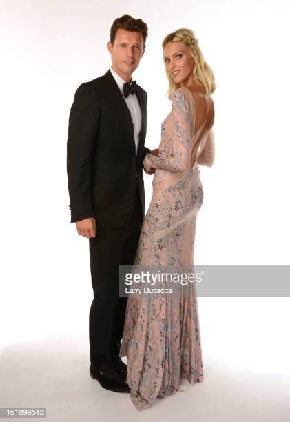 Models Sasha Knezevic and Anja Rubik attend The Novak Djokovic Foundation's inaugural dinner at Capitale on September 12 2012 in New York City
