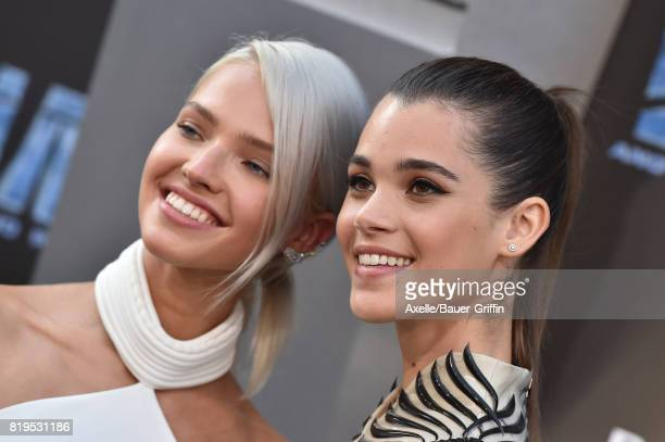 Models Sasha Luss and Pauline Hoarau arrive at the Los Angeles premiere of 'Valerian and the City of a Thousand Planets' at TCL Chinese Theatre on...