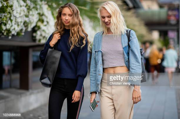 Models seen during Stockholm Runway SS19 on August 28 2018 in Stockholm Sweden