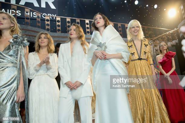 Models seen onstage at the amfAR Gala Cannes 2017 at Hotel du CapEdenRoc on May 25 2017 in Cap d'Antibes France