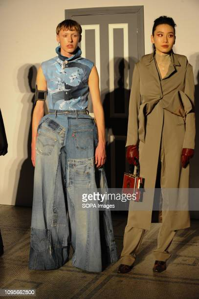 Models seen walking on the runway during the Fashion In Motion show inspired by Christian Dior Designer of Dreams Several models will showcase a...