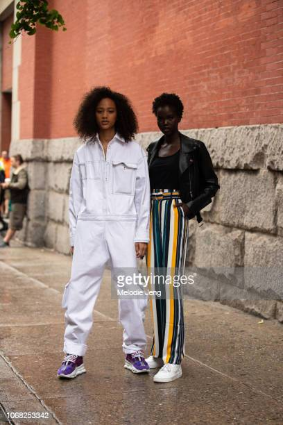 Models Selena Forrest Adut Akech after the Escada show during New York Fashion Week Spring/Summer 2019 on September 9 2018 in New York City Selena...
