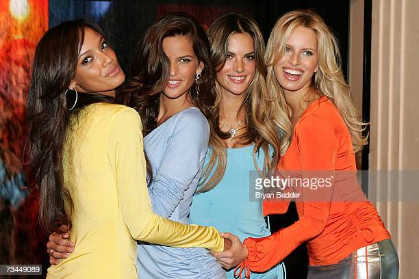 Models Selita Ebanks Izabel Goulart Alessandra Ambrosio and Karolina Kurkova attend the Victoria's Secret launch of the new Secret Embrace bras on...