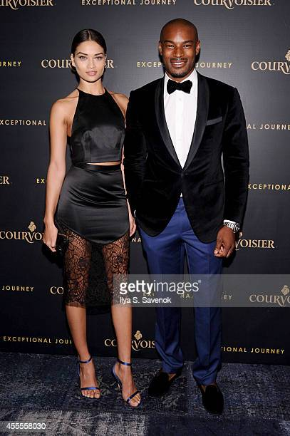 Models Shanina Shaik and Tyson Beckford attend Courvoisier Launches Exceptional Journey Campaign With Tyson Beckford at The Skylark on September 16...