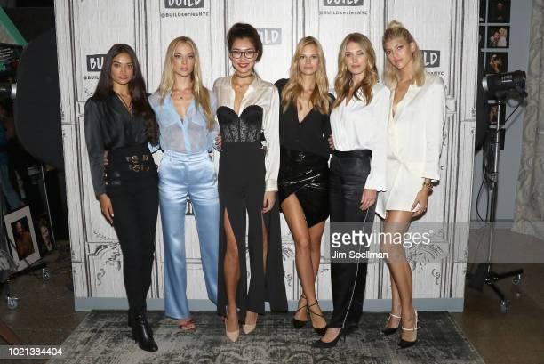 "Models Shanina Shaik, Hannah Ferguson, Ping Hue, Nadine Leopold, Caroline Lowe and Devon Windsor attend the Build Series to discuss ""Model Squad"" at..."