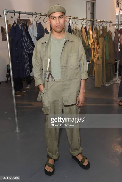 2e6c8a2d6bf777 Models showcase designs at the Nigel Cabourn presentation during the London  Fashion Week Men s June 2017