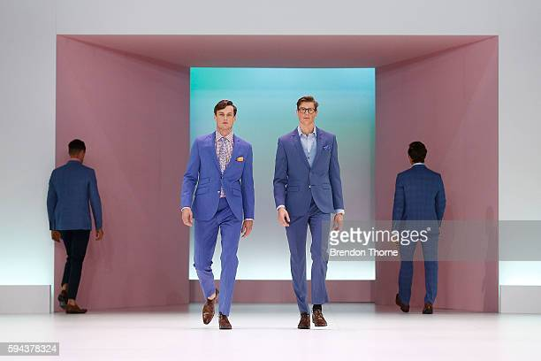 Models showcase designs by Dom Bagnato during the Myer Spring 16 Fashion Launch at Hordern Pavilion on August 23, 2016 in Sydney, Australia.