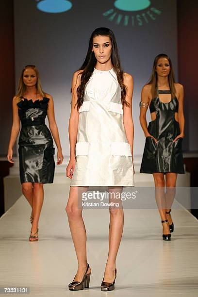 Models showcase designs by Jenny Bannister at Salon Show 4 on the fifth day of the L'Oreal Melbourne Fashion Festival 2007 at the Prahran Town Hall...