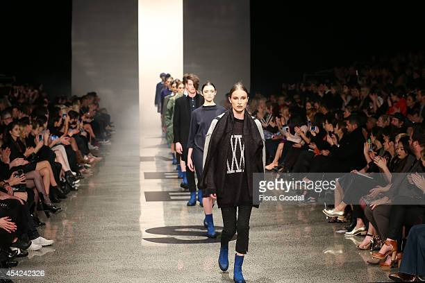 Models showcase designs by Zambesi at New Zealand Fashion Week 2014 on August 27 2014 in Auckland New Zealand