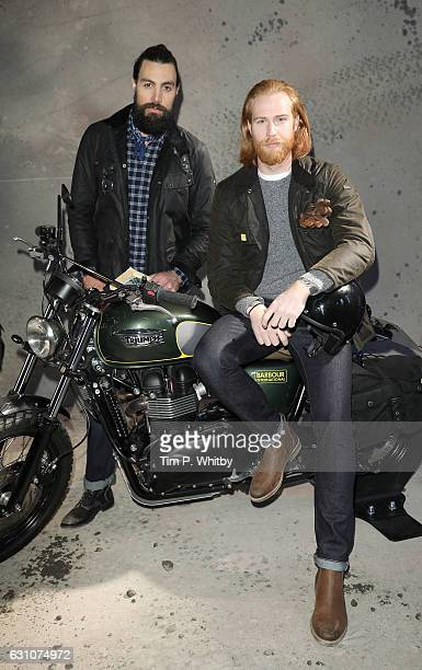 Models showcase designs during the Barbour International presentation during London Fashion Week Men's January 2017 collections at RIBA on January 6...
