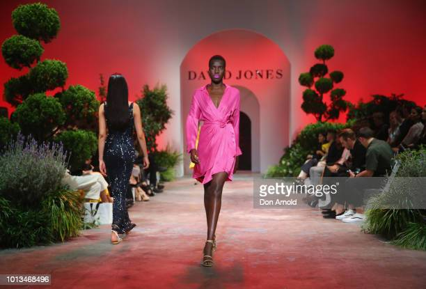 Models showcase designs during the David Jones Spring Summer 18 Collections Launch at Fox Studios on August 8 2018 in Sydney Australia
