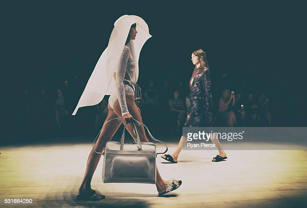 Models showcase designs during the Ginger and Smart show during MercedesBenz Fashion Week Australia at Carriageworks on May 16 2016 in Sydney New...