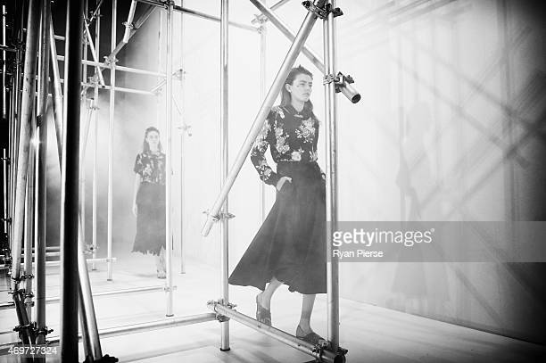 Models showcase designs during the Kate Sylvester Show at MercedesBenz Fashion Week Australia 2015 at Carriageworks on April 15 2015 in Sydney...