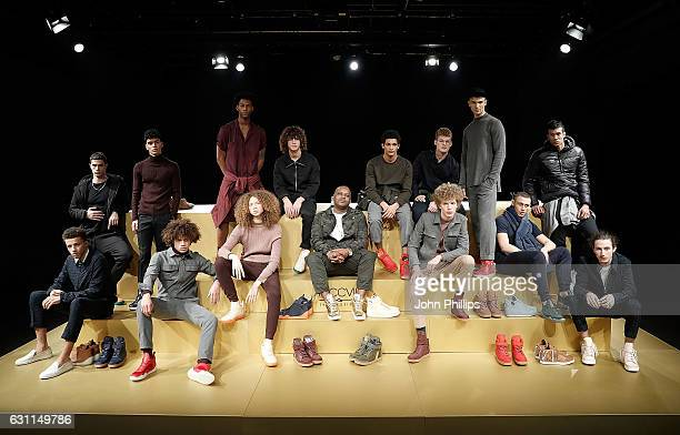 Models showcase designs during the MCCVIII presentation during London Fashion Week Men's January 2017 collections at Institute Of Contemporary Arts...