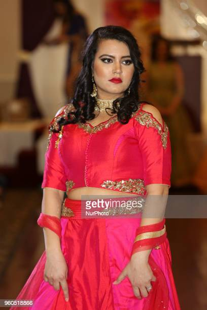Models showcase fashions from Northern India during a charity fashion show to raise money for South Asian women in need in Mississauga Ontario Canada