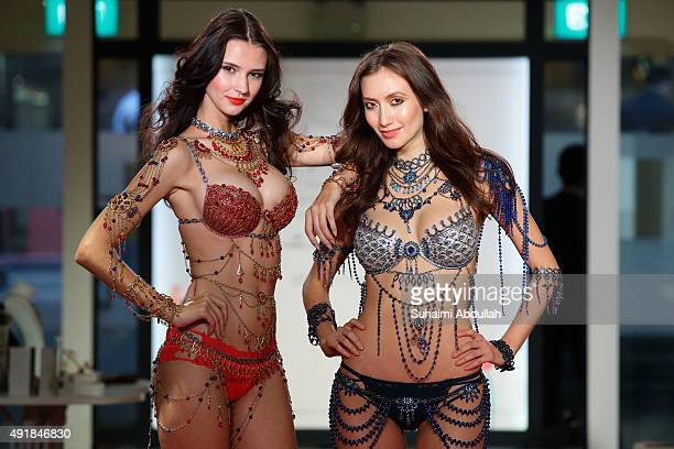 Models showcase Mouwad-Designed Victoria's Secret Dream Angels Fantasy Bras valued at US$2 million each during the Singapore JewelFest 2015 media...