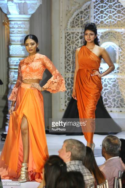 Models showcase the latest fashions during a South Asian bridal fashion show held in Toronto Ontario Canada on February 17 2018