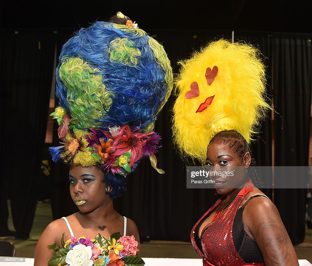 Models Showcase Unique Hairstyles At Bronner Brothers International Beauty Show Fantasy Compeion Georgia World Congress