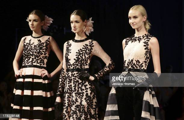 Models showcases designs on the runway during the Gregorius Vici show on day 3 of Hong Kong Fashion Week Spring/Summer 2013 at the Hong Kong...