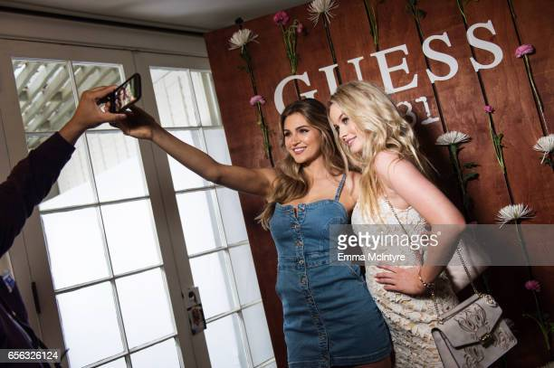 Models Simone Holtznagel and Natalie Pack attend the Guess 1981 fragrance launch at Chateau Marmont on March 21 2017 in Los Angeles California
