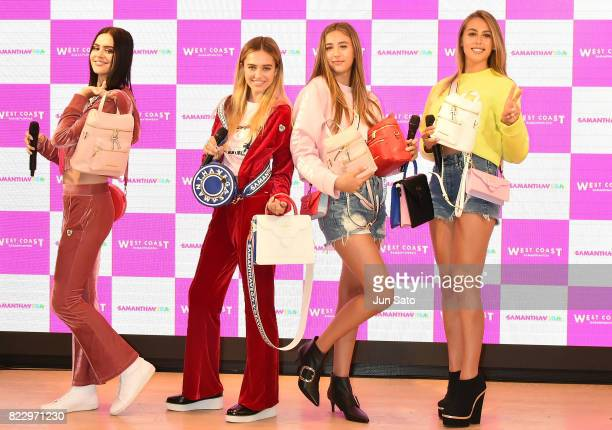 Models Sophia Stallone Scarlet Stallone Delilah Hamlin and Amelia Hamlin attend the 'Samantha Vega' Millennial Sisters talk event at Samantha Thavasa...