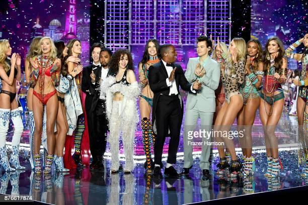 Models Stella Maxwell Elsa Hosk Lily Aldridge Alessandra Ambrosio musician Li Yundi singers Miguel Jane Zhang model Adriana Lima singers Leslie Odom...