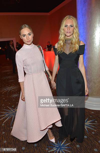 Models Suki Waterhouse and Poppy Delevingne attend the 2013 BAFTA LA Jaguar Britannia Awards presented by BBC America at The Beverly Hilton Hotel on...