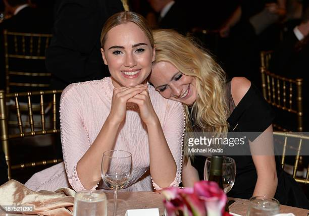 Models Suki Waterhouse and Poppy Delevingne with Stylebopcom attend the 2013 BAFTA LA Jaguar Britannia Awards presented by BBC America at The Beverly...