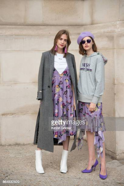 Models Taiana Sperotto and Clémence Lognonné wear Miss Sixty day 2 of Paris Womens Fashion Week Spring/Summer 2018 on September 27 2017 in London...