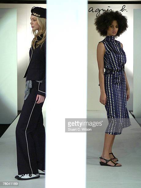 Models take part in the Agnes B Summer 2008 Catwalk show at Pacha nightclub Victoria Street on November 21 2007 in London England es