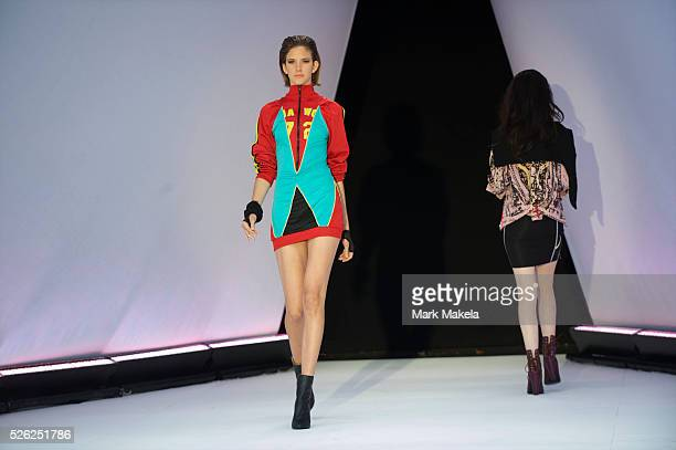 Models take part in the first ever sustainable show during a London Fashion Week at Friary Court, Clarence House, in St. James?s Palace, London on...