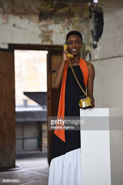 Models take part in the Isa Arfen presentation during London Fashion Week Spring/Summer collections 2017 on September 20 2016 in London United Kingdom