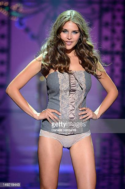 Models Tamara Lazic walk the runway during the Intimissimi Fall/Winter 2013 Fashion Show on July 25 2012 in Verona Italy