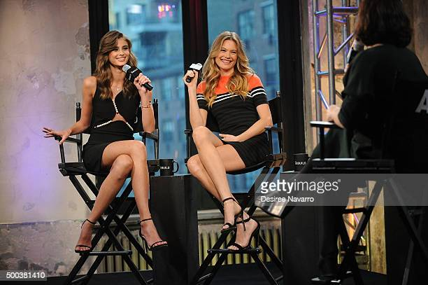 Models Taylor Hill and Behati Prinsloo attend AOL BUILD Series Victoria's Secret Angels Behati Prinsloo and Taylor Hill at AOL Studios In New York on...