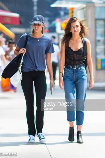 Models Taylor Hill and Mackinley Hill attend call backs for the 2017 Victoria's Secret Fashion Show in Midtown on August 22 2017 in New York City