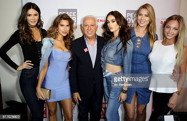 Models Tika Camaj Kara Del Toro GUESS Foundation president Paul Marciano models Olga Caro and Liz Turner attend the GUESS Foundation and Peace Over...