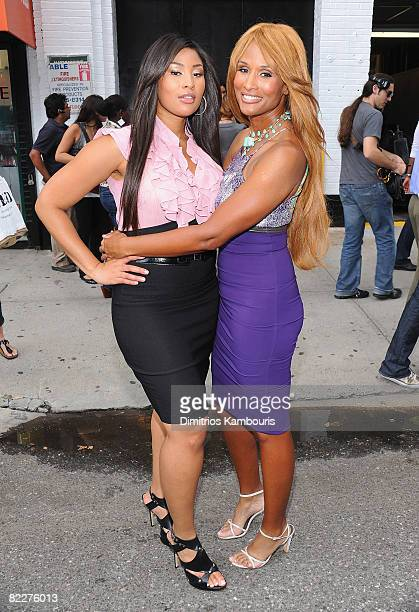 Models Toccara Jones and Beverly Johnson visit 'The Tyra Banks Show' celebration of the first all black model issue of Vogue Italia on August 12 2008...