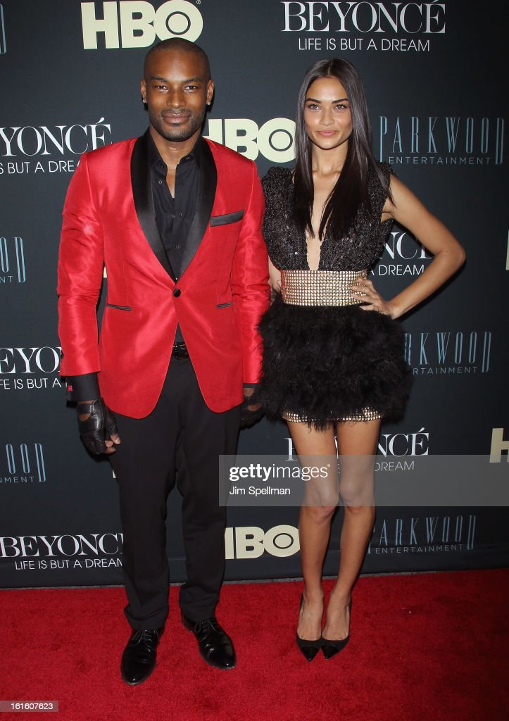 Models Tyson Beckford and Model Shanina Shaik attend 'Beyonce: Life Is But A Dream' New York Premiere at Ziegfeld Theater on February 12, 2013 in New York City.