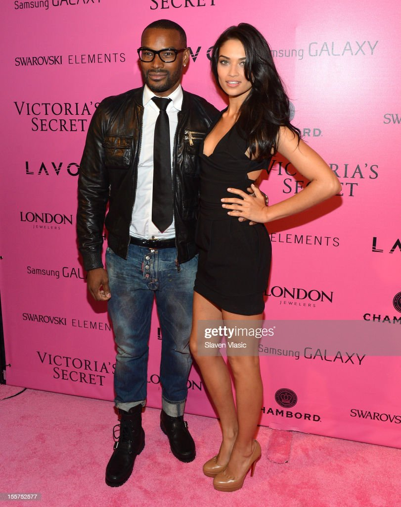 Models Tyson Beckford and Shanina Shaik attend Samsung Galaxy features arrivals at the official Victoria's Secret fashion show after party on November 7, 2012 in New York City.