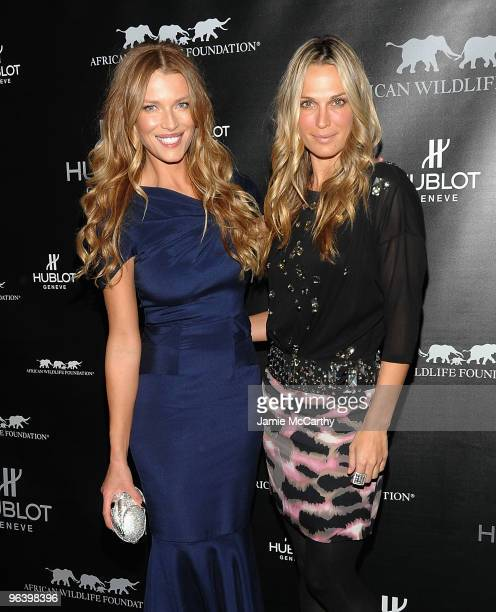 Models Veronica Varekova and Molly Sims attend the Hublot and African Wildlife Foundation Auction Dinner at American Museum of Natural History...