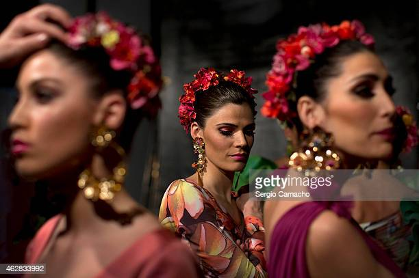 Models wait in backstage during the first day of the SIMOF 2015 at Palacio de Congresos on February 5 2015 in Seville Spain SIMOF is the top...