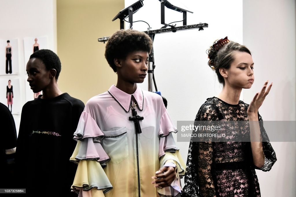 Marco De Vincenzo - Backstage - Milan Fashion Week Spring/Summer 2019