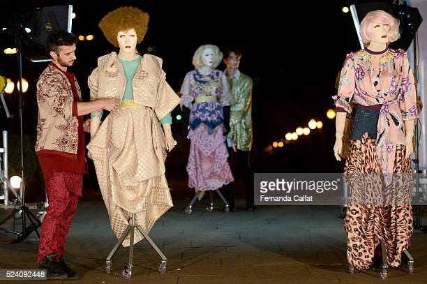 Models walk at FH by Fause Haten Performance at SPFW Summer 2017 on April 24 2016 in Sao Paulo Brazil