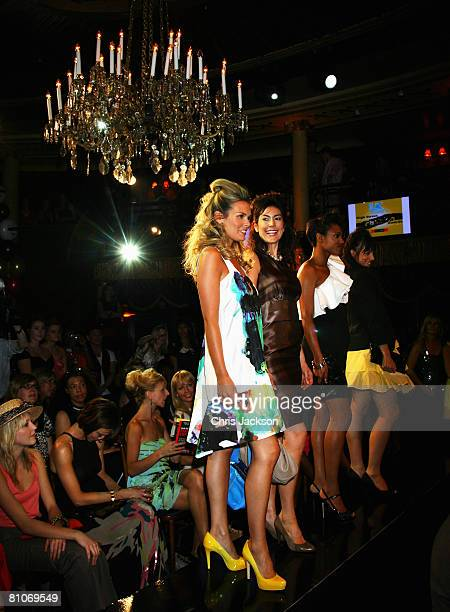 Models walk down the catwalk at the Perfume Shop LK Today High Street Fashion Awards at Cafe De Paris on May 12 2008 in London England