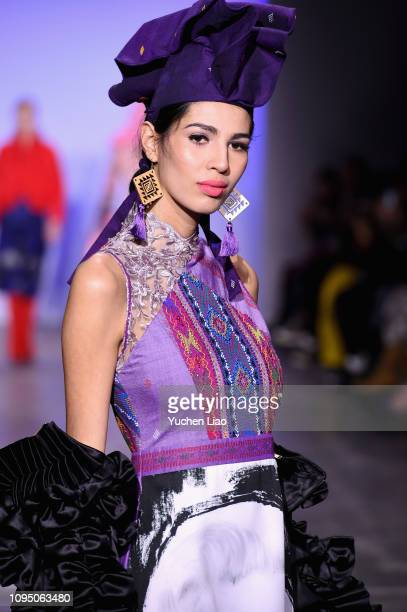 Models walk for 2Madison Avenue during the runway for the Indonesian Diversity FW19 Collections: 2Madison Avenue, Alleira Batik, Dian Pelangi and...