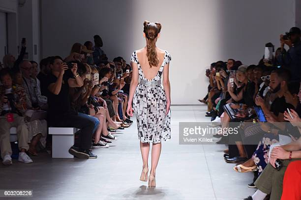 Models walk in the finale of the Irina Vitjaz fashion show during New York Fashion Week The Shows September 2016 at The Gallery Skylight at Clarkson...