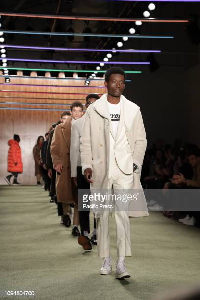 Models walk runway at the Todd Snyder Fall/Winter 2019 Collection during New York Fashion Week Men's at Pier 59 Studios Manhattan