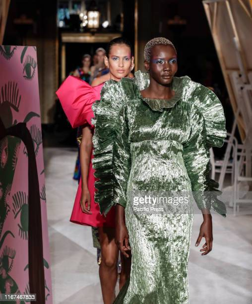 Models walk runway for Christian Siriano Spring/Summer 2020 collection during New York Fashion Week at Gotham Hall Manhattan