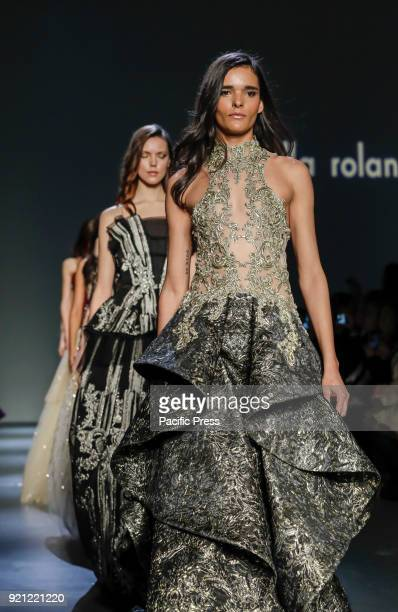 Models walk runway for the Pamella Roland Fall/Winter 2018 runway show during New York Fashion Week at Pier 59 Studuos Manhattan